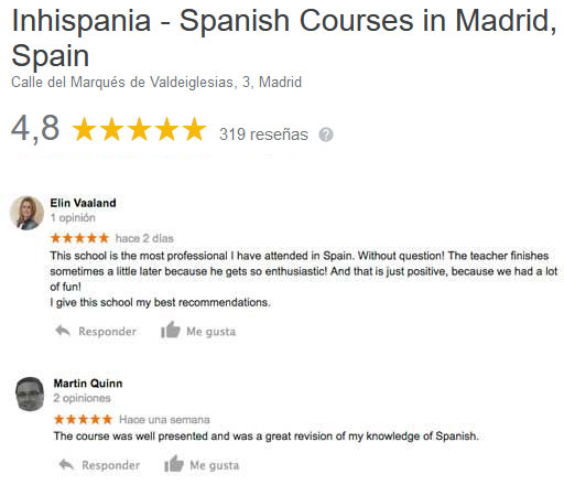 google spanish courses reviews