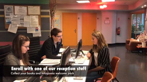 Enroll with one of our reception staff
