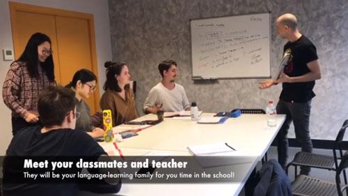 Conoce a tus compañeros y profesor de la escuela de español